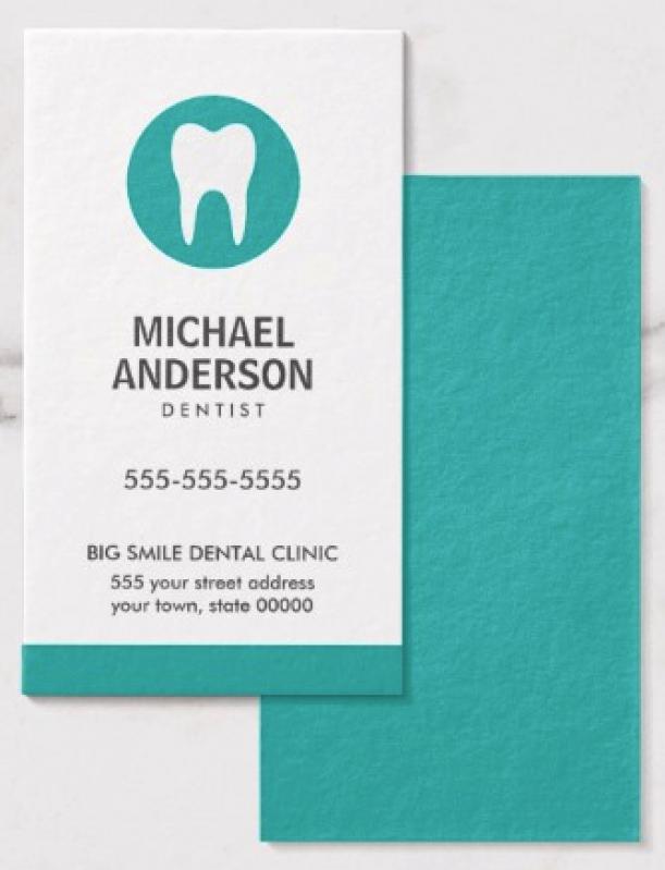 Cartão de Visita Odontologia Sacomã - Cartão de Visita para Loja de Roupas