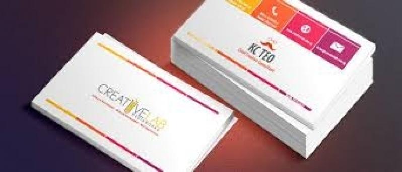 Cartão de Visita para Loja Preço Belém - Cartão de Visita com Verniz