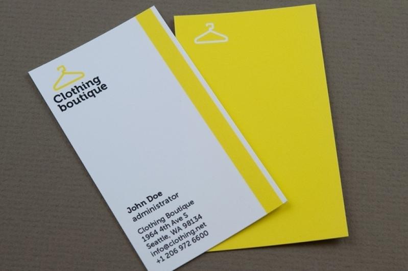 Orçamento de Cartão de Visita para Loja de Roupas Mooca - Cartão de Visita para Loja de Roupas