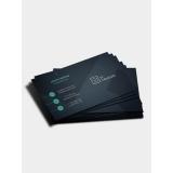 cartão de visita com laminação fosca preço Santo André