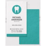 cartão de visita odontologia Vila Mariana