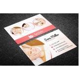 cartão de visita para salão de cabeleireiro preço Jaraguá
