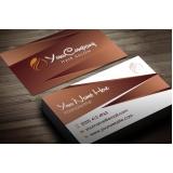 onde comprar cartão de visita para salão de cabeleireiro Campo Grande