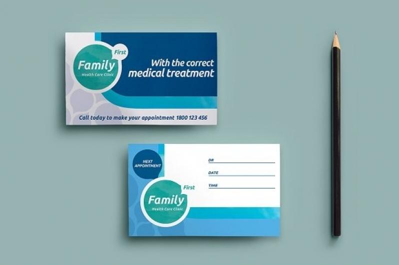 Cartão de Visita Odontologia Preço Pinheiros - Cartão de Visita com Laminação Fosca