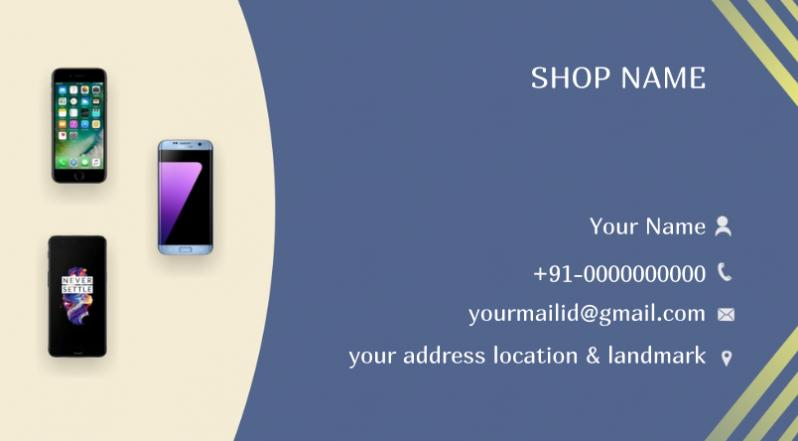 Cartão de Visita para Loja de Celulares Penha - Cartão de Visita para Loja de Roupas