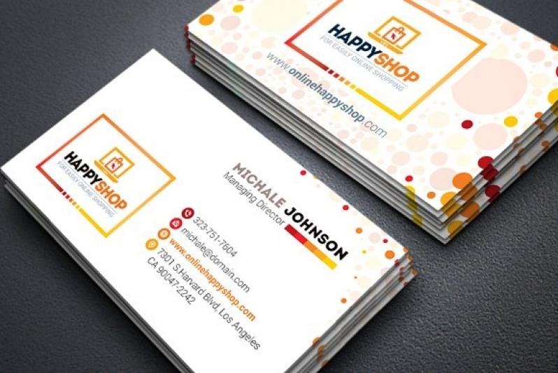 Cartão de Visita para Loja Sapopemba - Cartão de Visita com Laminação Fosca