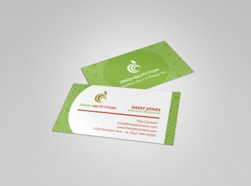 Cartão de Visita para Nutricionista Preço Penha - Cartão de Visita Verniz Localizado