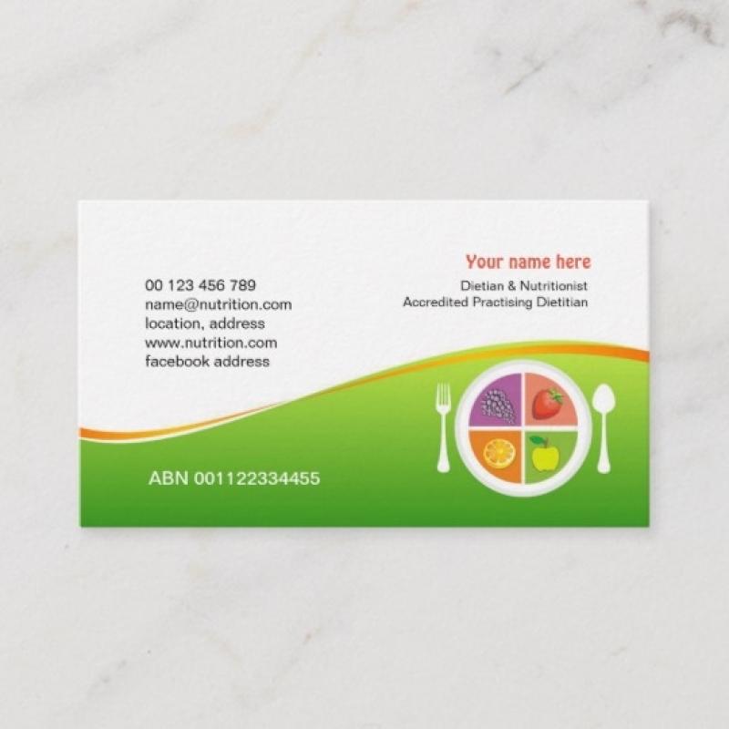 Cartão de Visita para Nutricionista Tatuapé - Cartão de Visita para Nutricionista