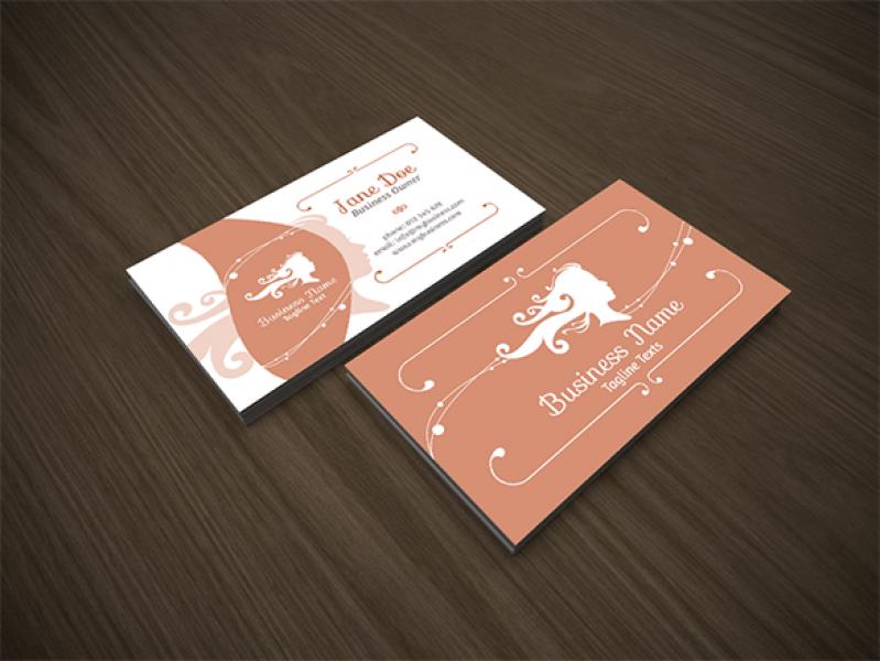 Cartão de Visita para Salão de Cabeleireiro Saúde - Cartão de Visita para Loja de Roupas