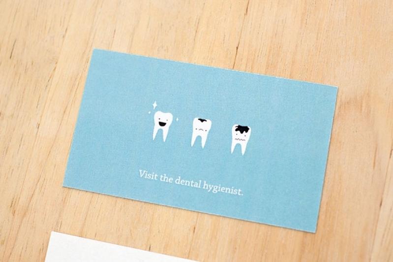 Cartões de Visita Odontologia Guarulhos - Cartão de Visita para Lanchonete