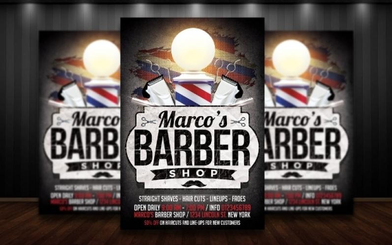 Folder para Barbearia Loja de Jaraguá - Folder para Confeitaria