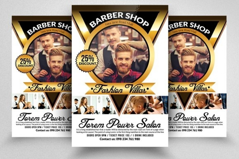 Folder para Barbearia Pirituba - Folder para Confeitaria