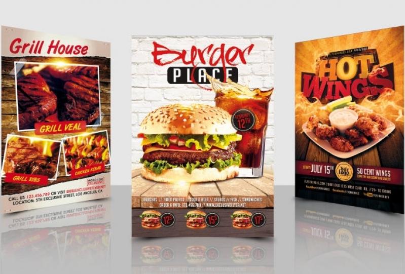 Quanto Custa Folder para Restaurante Pinheiros - Folder para Confeitaria
