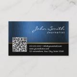 cartão de visita para jornalista