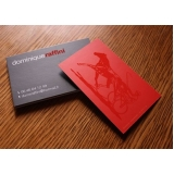 cartão de visita com laminação fosca Mooca