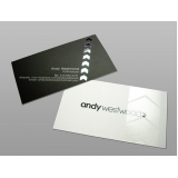 cartão de visita com verniz Jockey Club