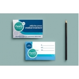 cartão de visita odontologia preço Vila Maria