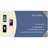 cartão de visita para loja de celulares Ibirapuera