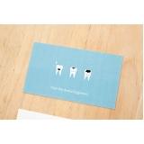 cartões de visita odontologia Vila Medeiros