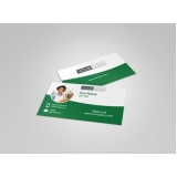 orçamento de cartão de visita para nutricionista Parque São Lucas